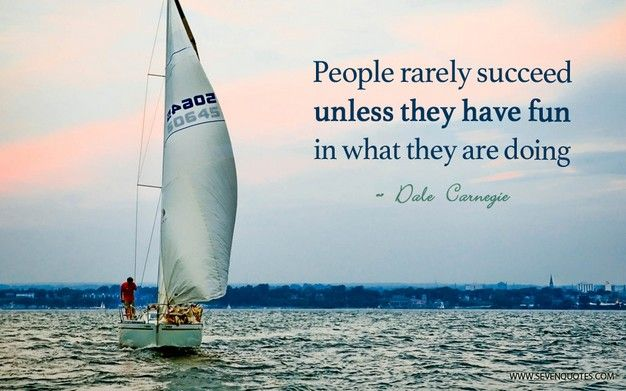 People rarely succeed…