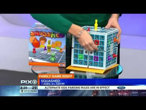SQUASHED, the amazing 3-D board game, was featured on WPIX NY! Check it out!