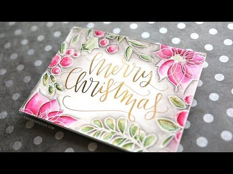 Holiday Card Series 2016 - Day 12 (DIY Foil + stamping) - YouTube. SSS Winter Flowers stamp set and Zig markers