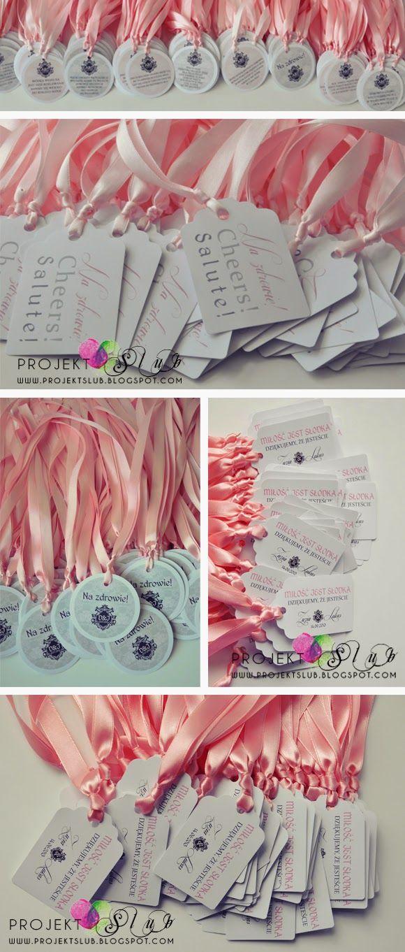 Projekt Ślub - papeteria ślubna, zaproszenia i dodatki na wesele, indywidualne projekty : Eleganckie dodatki ślubne w odcieniach szarości i pudrowego różu - do zaproszeń Stylove 1 z herbem
