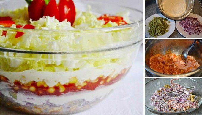Réteges Gyros saláta