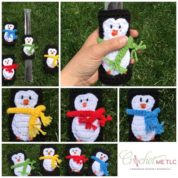This listing is for one adorable set of 4 penguin freezie holders. Keeps little hands and fingers warm! Fun on a hot summer day :) ♥ Item will be made especially for you, so please check my Shop Policies or contact me to see the current waiting time ♥ 100% acrylic yarn ♥ Custom colours