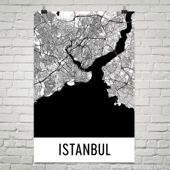 Istanbul Map Art Print, Istanbul Turkey Art Poster, Istanbul Wall Art, Map of Istanbul, Istanbul Print, Gift, Birthday, Decor, Modern, Art