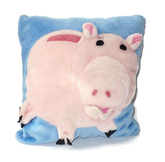 Vintage 90s toy story plush hamm the pig decorative 3 d square throw pillow kids bedroom decor
