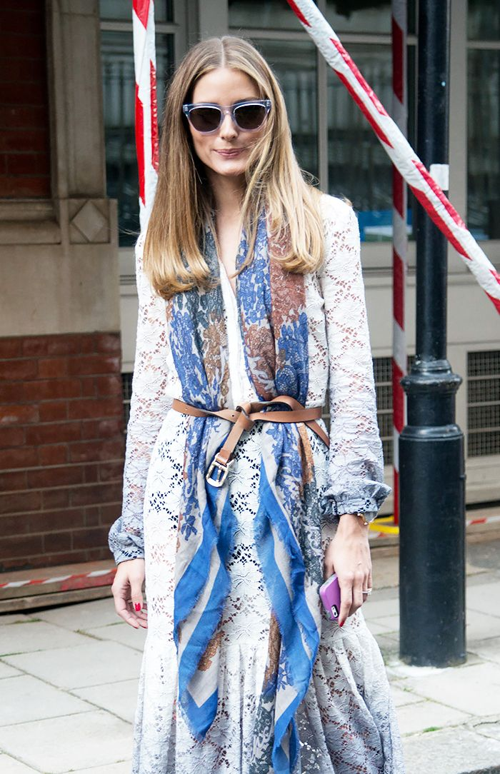 A Step-By-Step Guide to Tying Your Belt Like Olivia Palermo via @WhoWhatWear