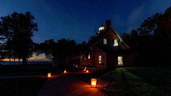 Twilight Tours, Tunes & Tales September 29 @ 6:30 pm - September 30 @ 8:00 pm  Experience Eagle Bluff Lighthouse by lantern lights! The Northern Door Storytellers Guild will be in residence to share tales of the sea, lighthouse lore, traditional music, and poetry; admission fee. (6:30 -8:00pm)