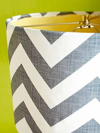DIY Fabric Lampshade Makeover  Always wanted to know how to do this