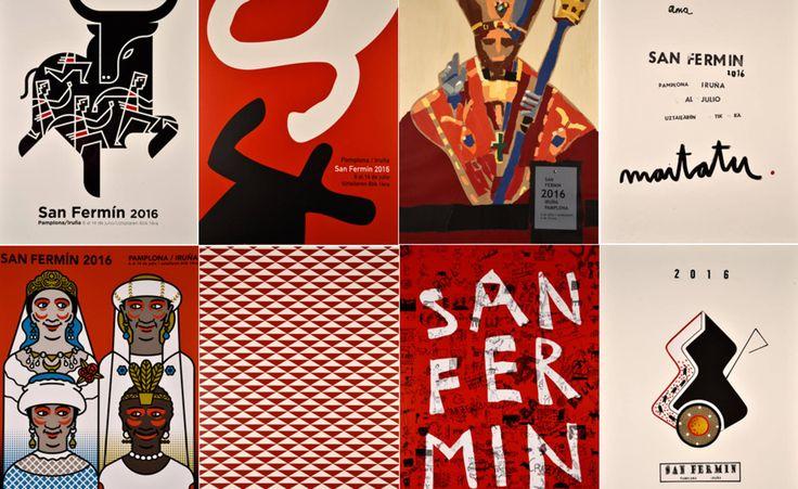 Consulta los 8 carteles finalistas para San Fermín 2016.