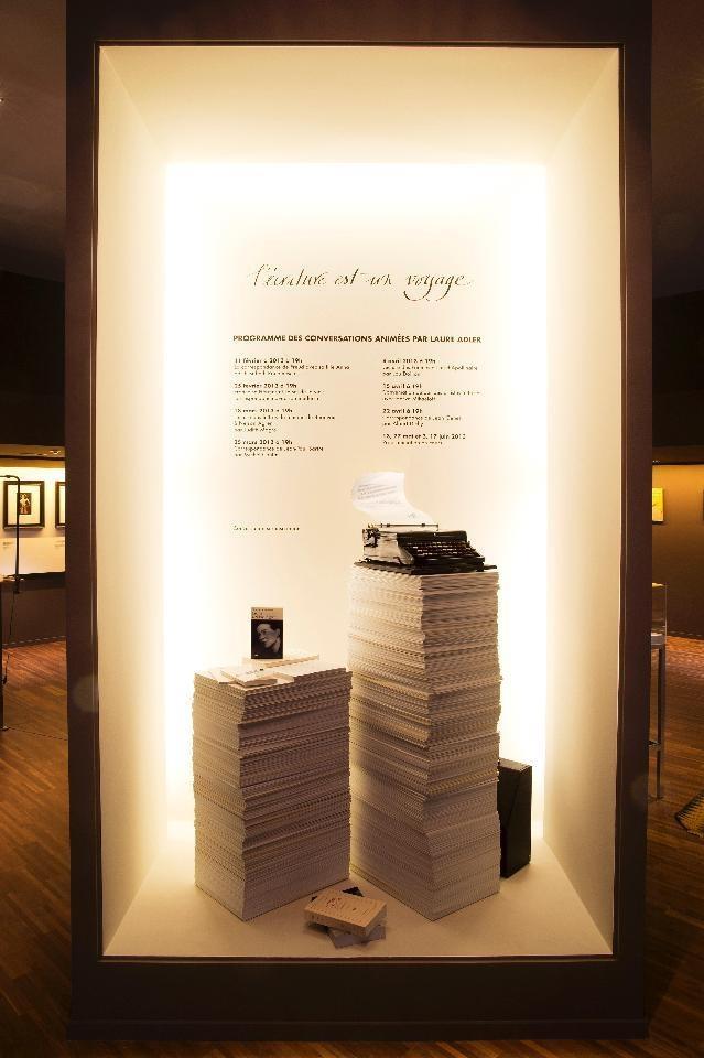 Louis Vuitton's Pop up exhibit L'Ecriture est un Voyage in the Saint-Germain-des-Près district of Paris.