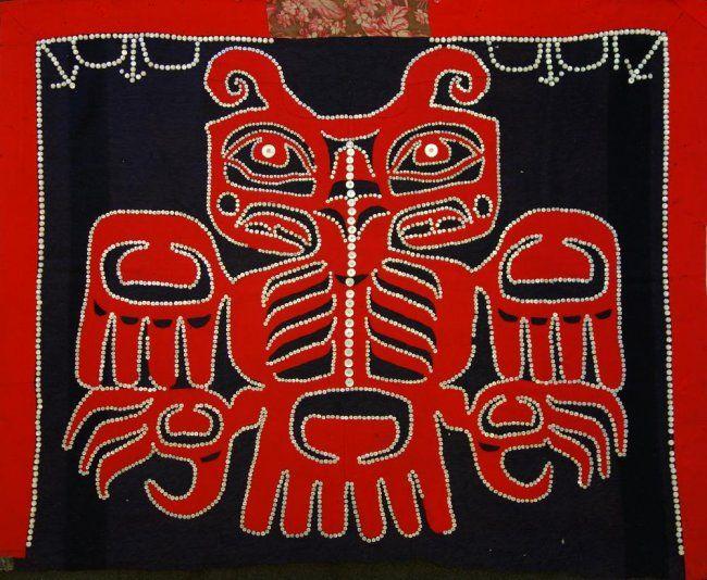 Northwest Coast Tlingit Haida Button Blanket : Lot 72