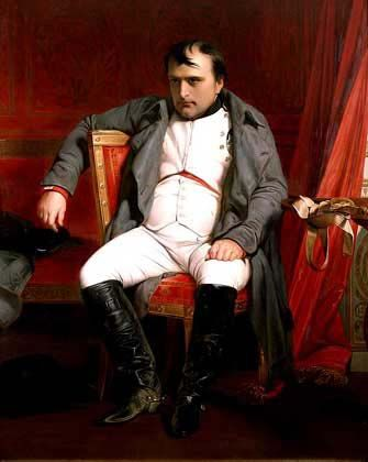 Napoleon at the Battle at Wagram