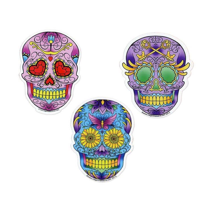 Note for k sugar skull sticker 3 pack