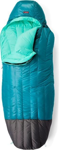 NEMO Women's Rave 15 Sleeping Bag Jade/Sea Glass Regular Right