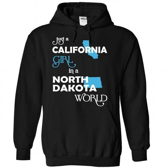 (CAXanh001) Just A California Girl In A North_Dakota Wo - #gift for girlfriend #food gift. CHEAP PRICE => https://www.sunfrog.com/Valentines/-28CAXanh001-29-Just-A-California-Girl-In-A-North-5FDakota-World-Black-Hoodie.html?68278
