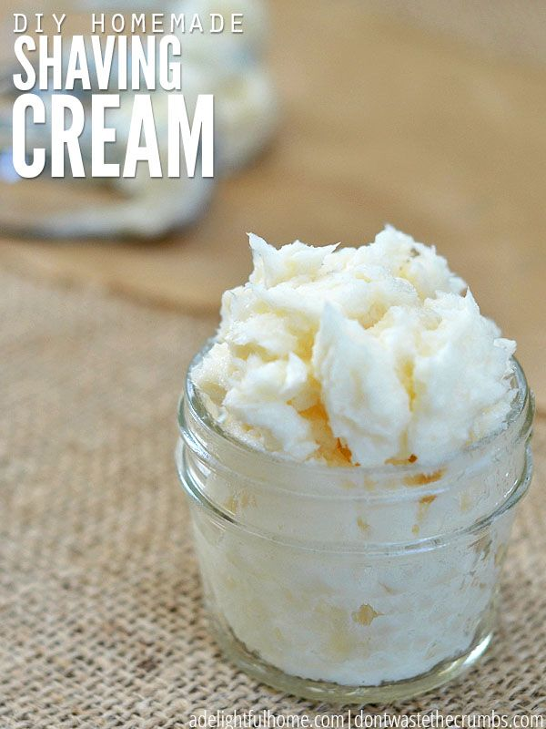 Easy tutorial for homemade shaving cream for men or women. Remove toxins and harmful ingredients and make this natural shaving cream instead!