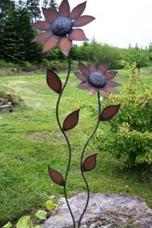 Garden Yard Art Ideas homemade pinwheels Metal Petals Garden Art Nice Garden Accent Piece