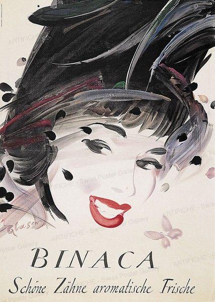 BINACA - schöne Zähne - aromatische Frische - 1949 - (Otto Glaser) - dentifrice