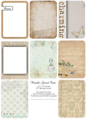 Free printable journaling cards love this site... always freebies