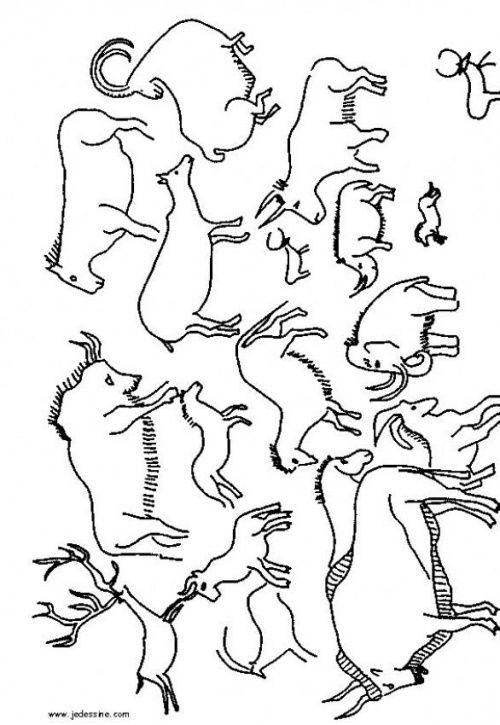 animaux à la manière des peintures rupestres