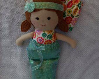 Handmade rag doll gift for girlsfabric doll soft by Marigoldandme