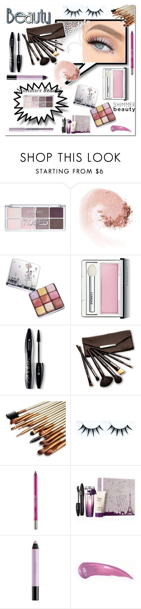 """""""Shimmer Beauty"""" by ilona-828 ❤ liked on Polyvore featuring beauty, NARS Cosmetics, Lancôme, Clinique, Borghese, Urban Decay, shu uemura, Maybelline, Beauty and shimmerbeauty"""