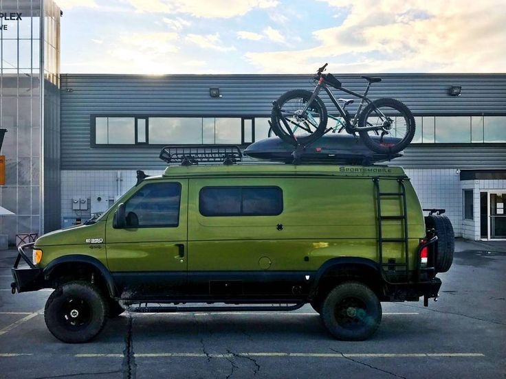 You Need This Custom Ford Camper Van Towing A Sauna Trailer