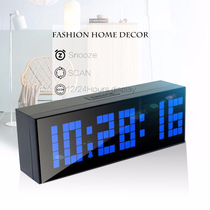 Ch KOSDA alarme LED relógio Digital relógio de parede de mesa mesa novo Design com contagem regressiva temporizador elétrico soneca calendário temperatura alishoppbrasil