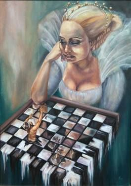 "Saatchi Art Artist Violetta Tar; Painting, ""Game over"" #art"
