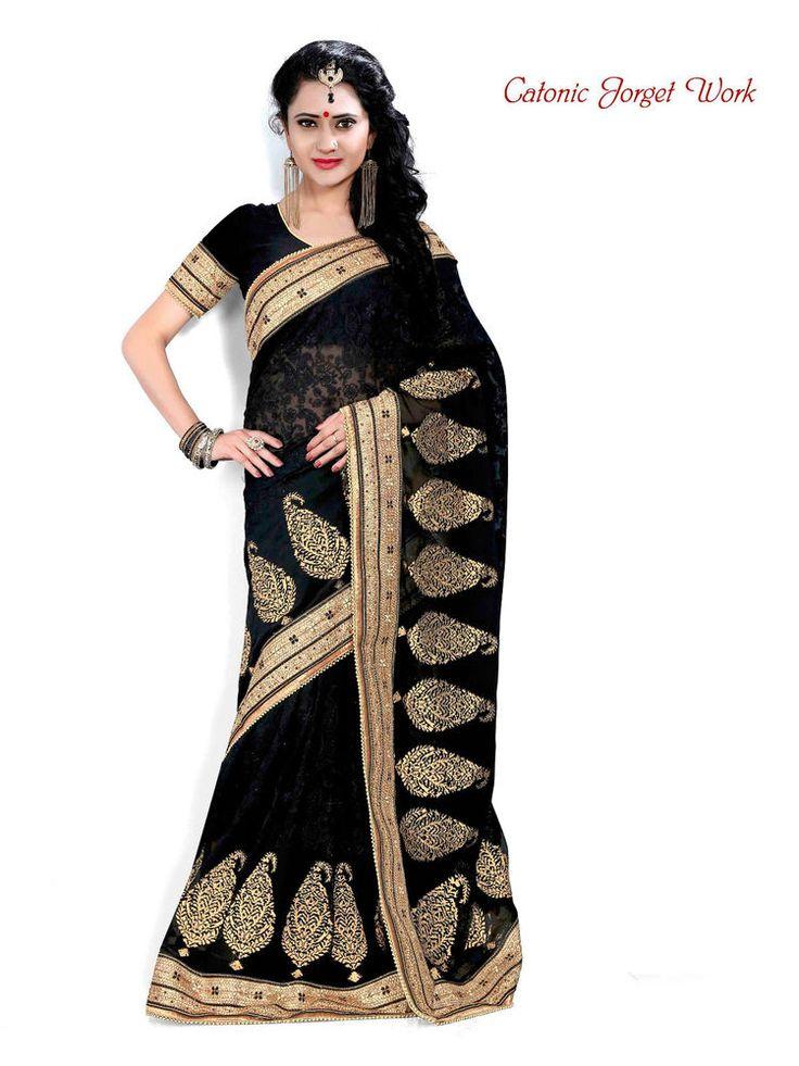 Ethnic Bollywood Saree Indian Designer Wedding Sari Party Pakistani Dress 1965 #Kriya #TraditionalSaree