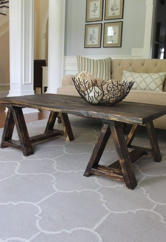 Best Coffee Table DIY Inspiration Images On Pinterest Tables - Charming vintage diy sawhorse coffee table