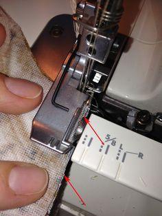 Обработка косых и изогнутых срезов на оверлоке