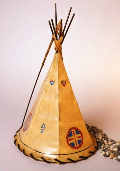 Medicine Shield Hand Painted Leather Tepee Lamp 16x10 sheepskin rawhide Leather Indian Tepee Lamp tipi lamp rustic night light teepee lamp southwestern decor foss lampshades fosskin made in usa