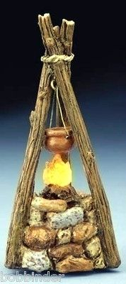 "FONTANINI LIGHTED CAMPFIRE 54322 ROMAN FOR 5"" SCALE NATIVITY"