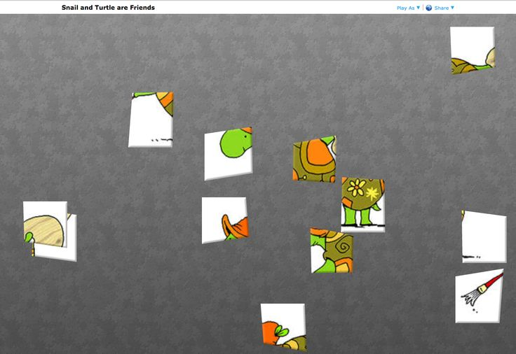 Snail and Turtle are Friends. Online puzzle. http://www.jigsawplanet.com/?rc=play&pid=17b44026dce0