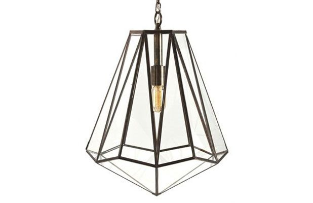 Geometric Light Fixtures This year was a lesson in geometry for design-enthusiasts. Hexagonal, dodecahedron, and polyhedron faceted lighting was one of the biggest interpretations of the geometric trend to take shape.