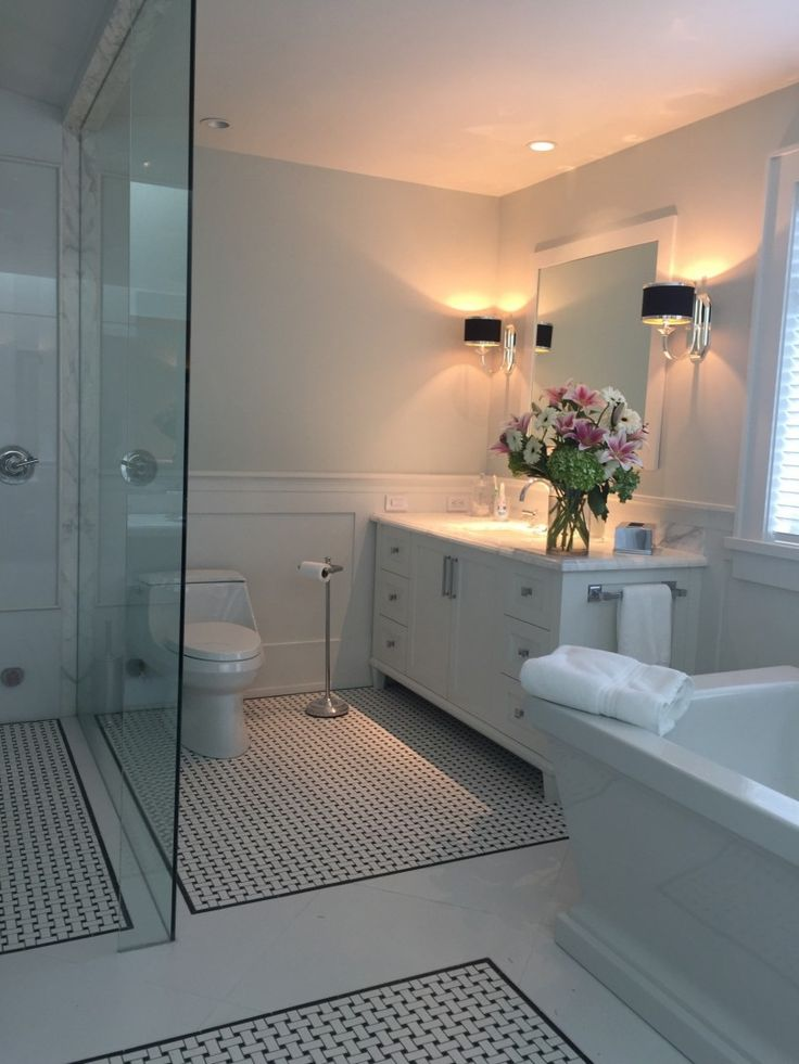 Calcutta Marble Vanity Master Bathroom Design by Shelley Scales Interior Design Vancouver