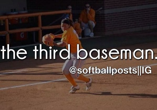 Softball. That's me! I play third.