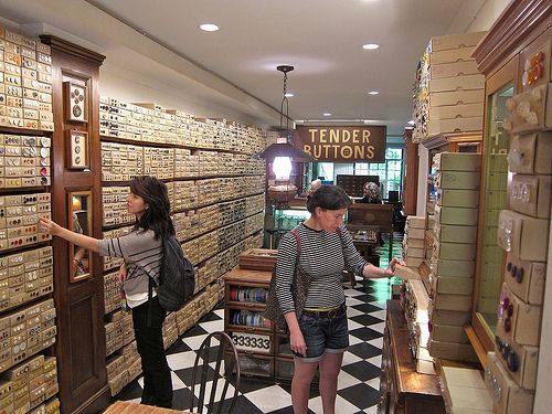 Tender buttons button shop in nyc for Craft stores in nyc