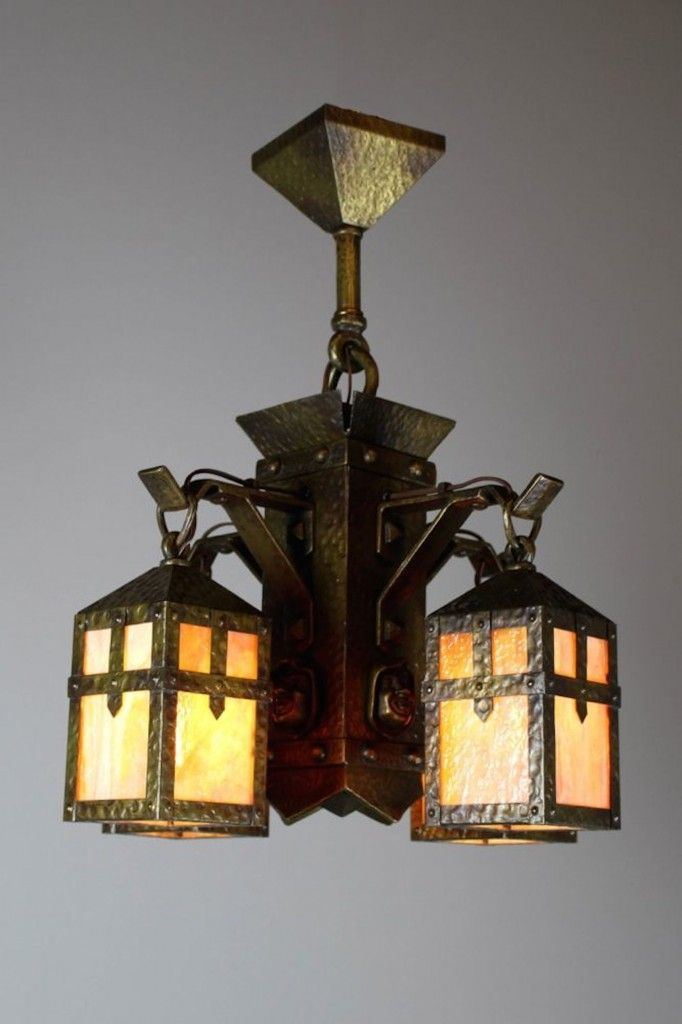 View this item and discover similar chandeliers and pendants for sale at -  This is wonderful Arts & Crafts light, circa 1910 is attributed to Sears,  ... - 23 Best RENEW Pendant Lighting Images On Pinterest Pendant