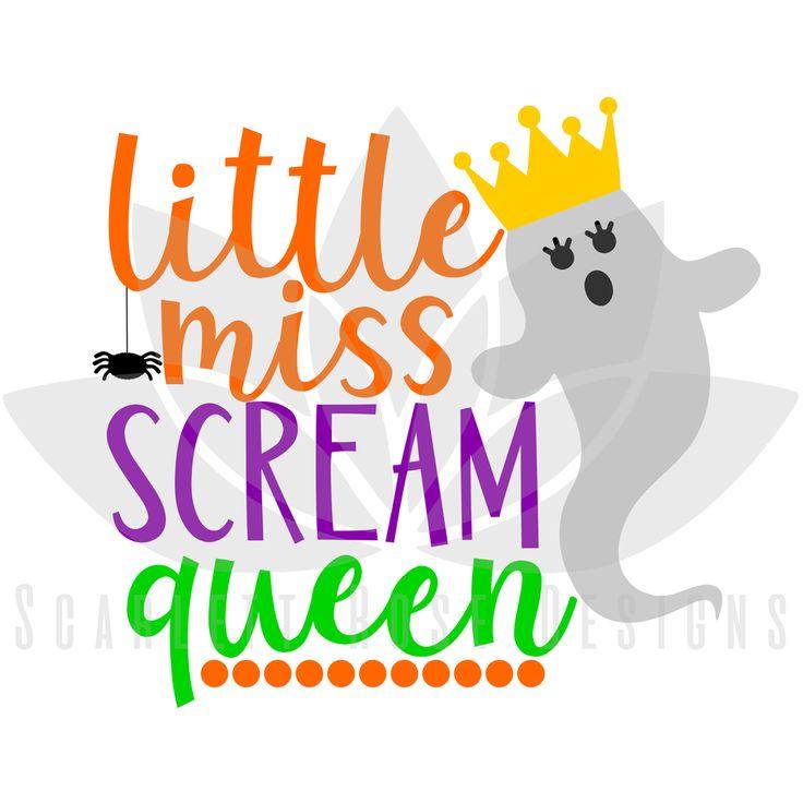 Little Miss Scream Queen SVG cut file, Halloween SVG, EPS, PNG #baby-costume #baby's-first-halloween #bat-svg