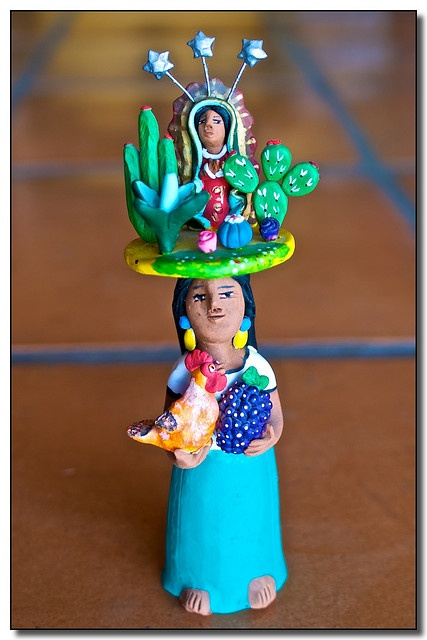 Beautiful Mexican ceramic woman