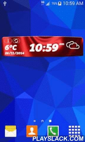 Deluxe Weather Clock Widget  Android App - playslack.com , ★ Deluxe Weather Clock Widget★ is the accurate weather forecast application that offers you the detailed information about weather such as precipitation, humidity, pressure and wind speed. Now you have an opportunity to try out something completely new both in our weather application and clock widget. Only with one tap you can keep track of weather conditions and time at the same time. Deluxe Weather Clock Widget Features: ·…