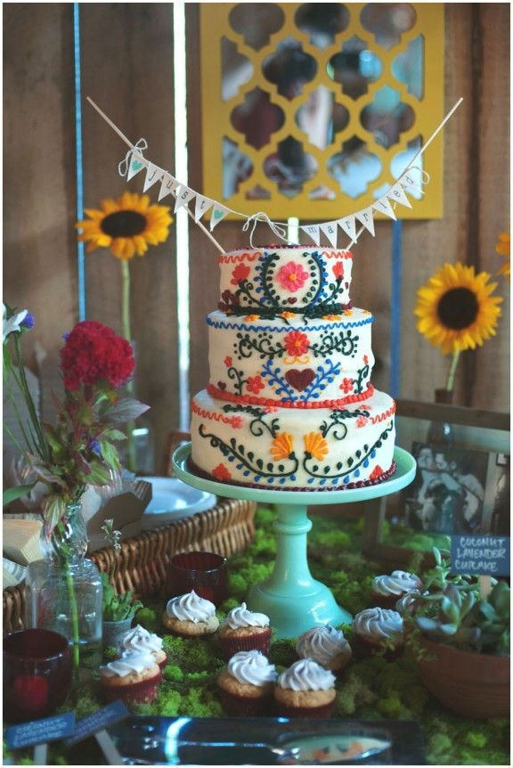 #Wedding #cake inspo for the #boho-minded bride.