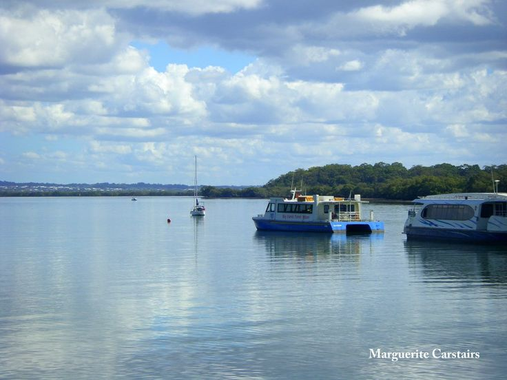 https://flic.kr/s/aHsjV8vFPB | Ferry to Russell Island | Returning home to Russell Island on board the Vehicle Water Ferry from  Redland Bay Marina....Views of Moreton Bay from the Jetty at Russell Island