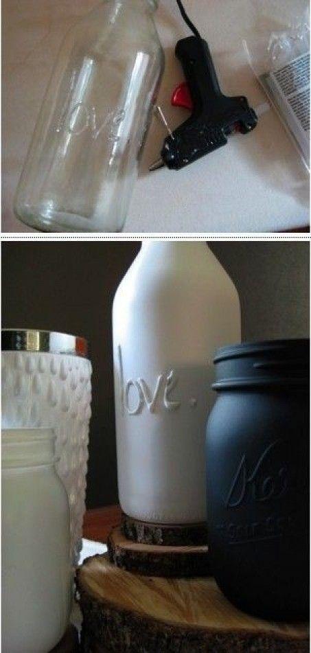 Leuk om zelf te maken   lijmpistool, fles, spuitbus Door Krosantje