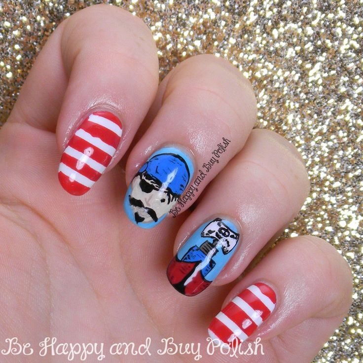 Avast, ye scalawags! It's the last day of the Avast Ye Bilge Rats Pirate Nail Art Challenge, and International Talk Like a Pirate Day! Ibeexcited t'show you me nail art. :) But first, if yemisse...