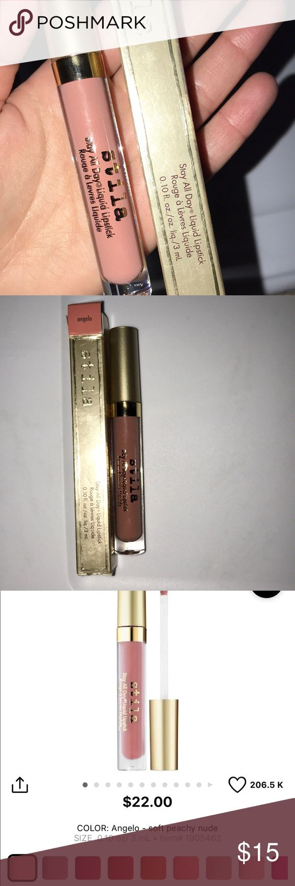 New stila matte liquid lipstick NEw. In box. Shade Angelo.  💕 No trades please.  All make up listed is authentic.  Bundle more items for an even bigger discount off your total!! I simply own doubles of this and don't need both. 💕 Makeup Lipstick