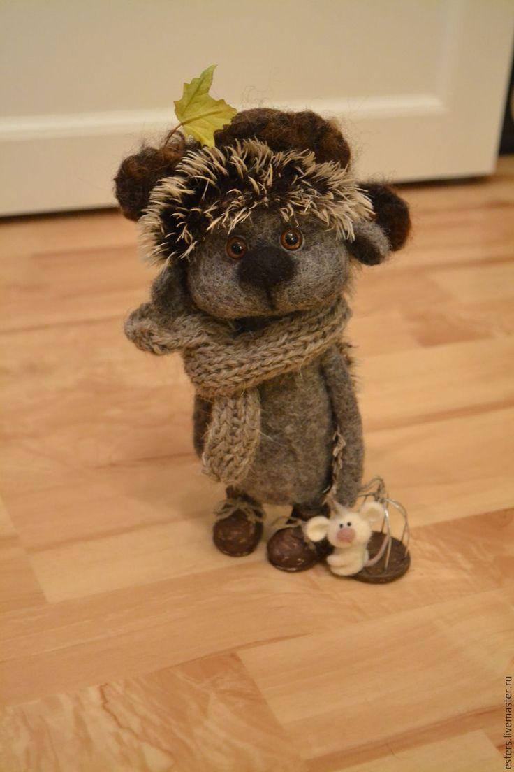 Купить Ежик для Люции - серый, ежик, валяный ежик, игрушка ручной работы, игрушка в подарок