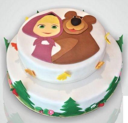 Výsledek obrázku pro bear and masha cake