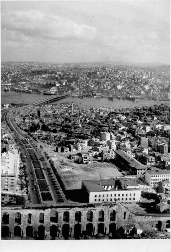 Valens Aqueduct (Valens Su Kemeri)  late 4th century AD and Atatürk Boulevard Bridge (known as the Unkapanı Bridge)